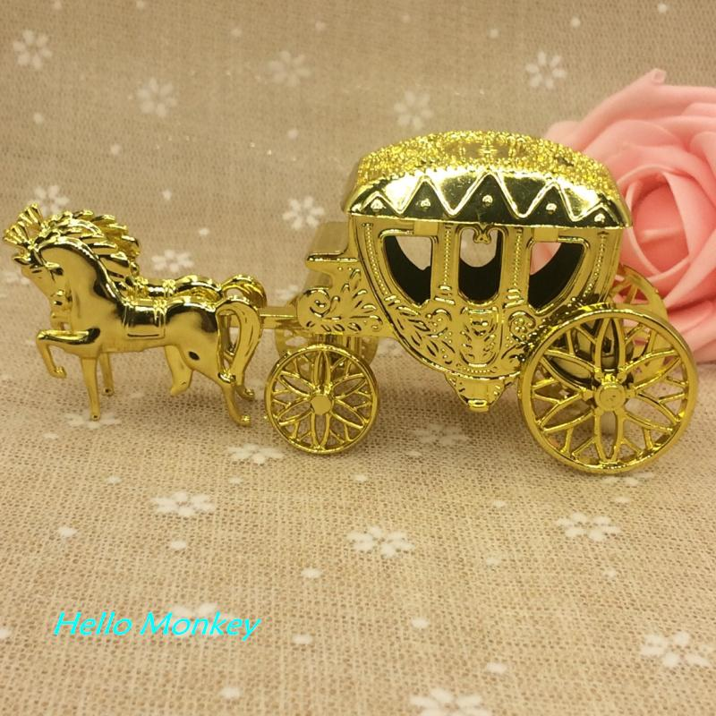 Wholesale Cinderella Carriage Wedding Favor Boxes Candy Box Casamento Favors And Gifts Event Party Supplies
