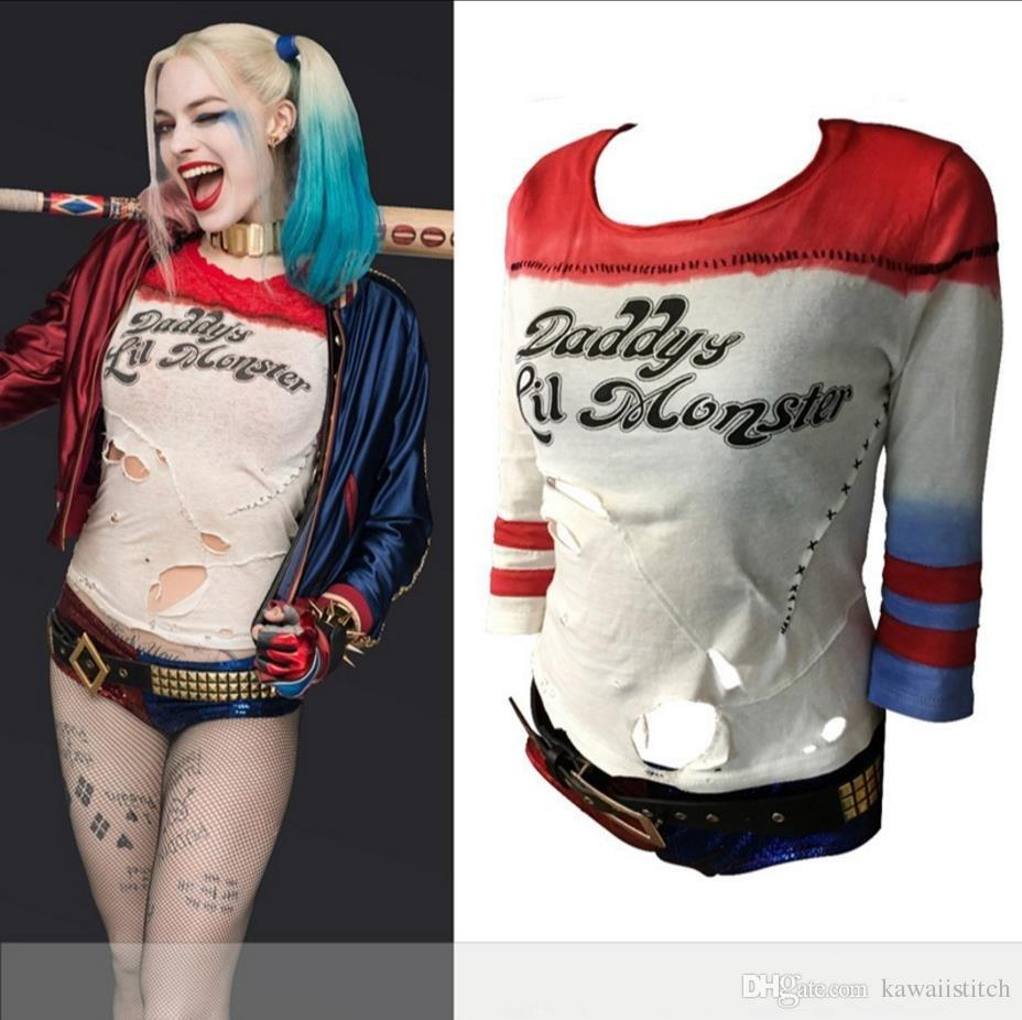 1 1 Movie Suicide Squad Harley Quinn Long Sleeve T Shirt