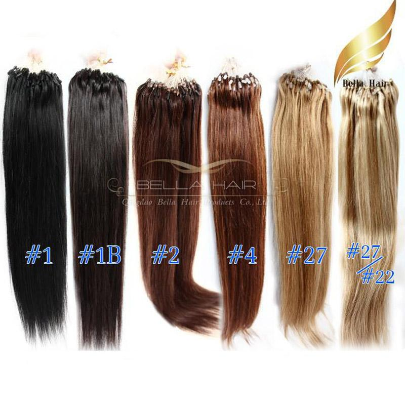 Brazilian hair 22 loop micro ring hair extensions 1b12427 brazilian hair 22 loop micro ring hair extensions 1b124272722 silky straight 1gstrand 100gbellahair dhl micro ring hair extension hair pmusecretfo Choice Image
