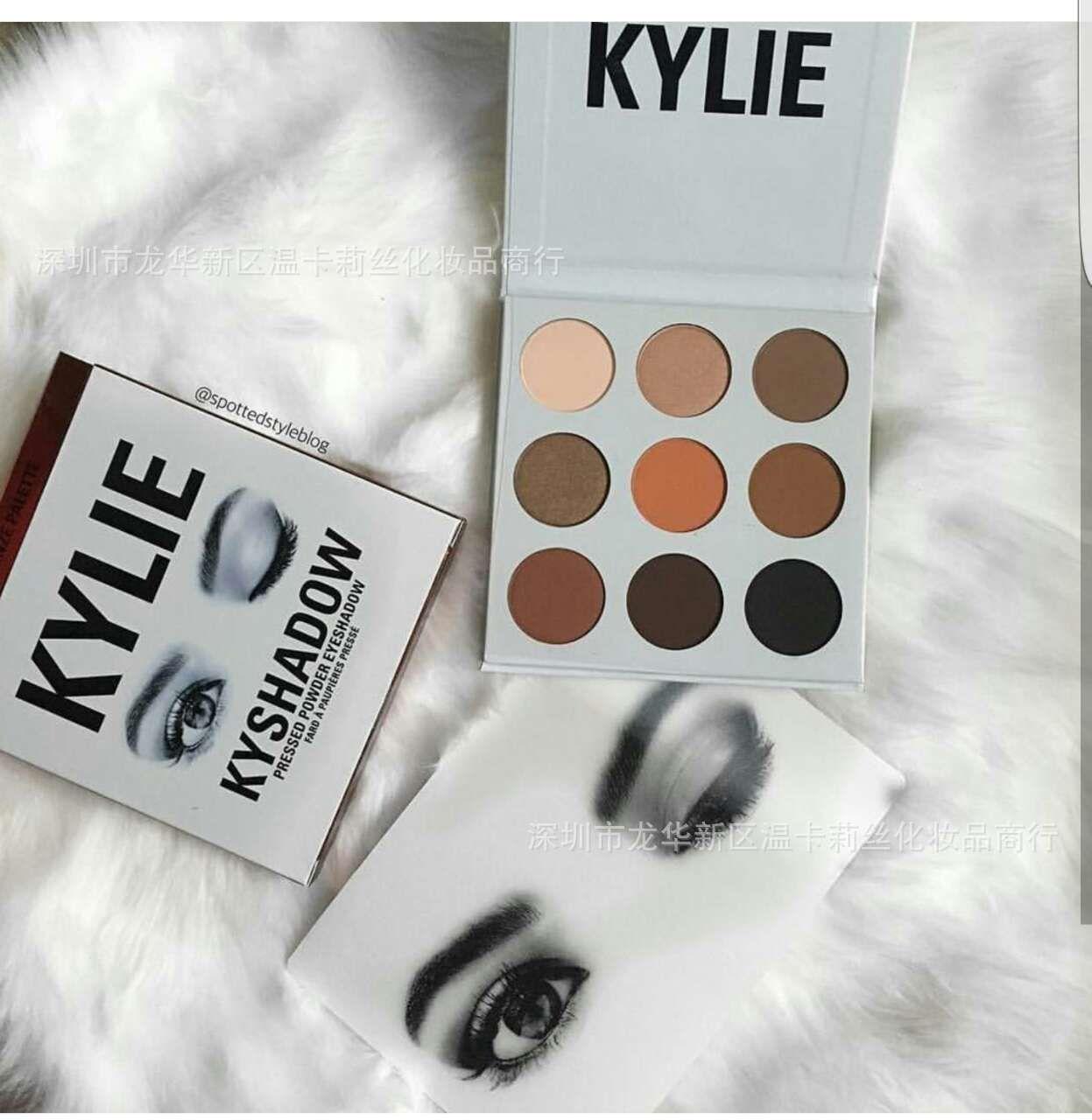 Kylie Kyshadow Pressed Powder Eyeshadow Palette Palettes Bronze Matte  Cosmetics Makeup +gift New Arrival Hot