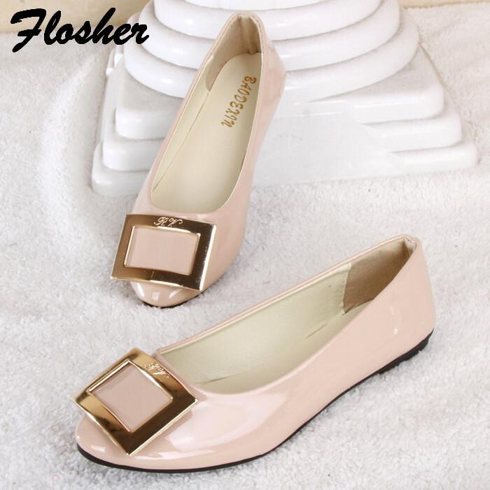 New 2016 Women Pregnant Shoes Work Shoes Flats Loafers ...