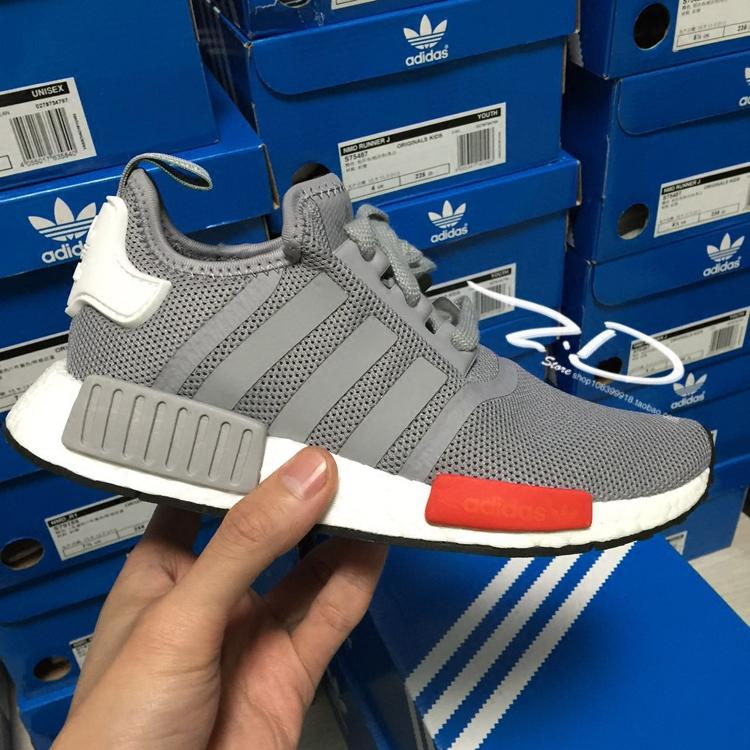 original adidas nmd runner moscow grey red r1 running. Black Bedroom Furniture Sets. Home Design Ideas