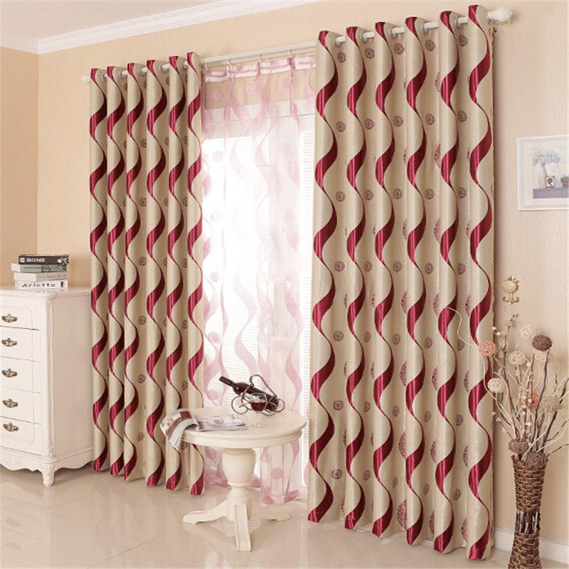 2017 jacquard curtains simple modern curtain living room for M s living room curtains