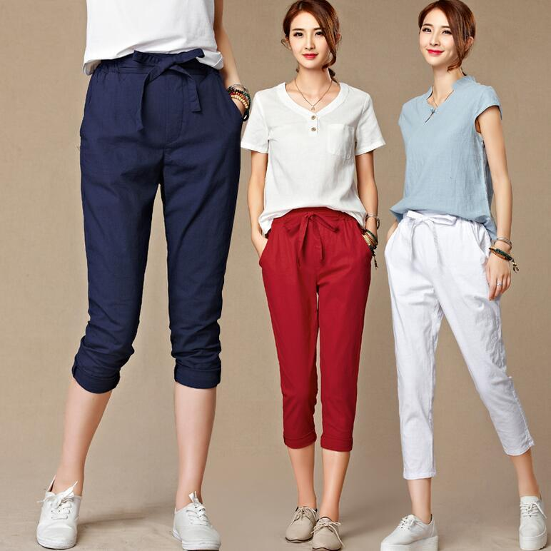 Amazing 2014 Korean Women39s Big Yards Harem Pants Cotton Sport Casual Pants