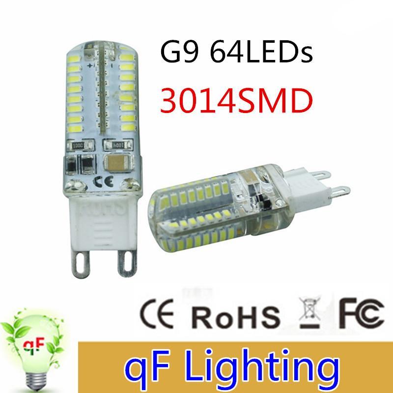 High Power Ac220v 110v Smd3014 G9 64led 6w Led Corn Light Bulb Super Bright 360 Degree Replace ...