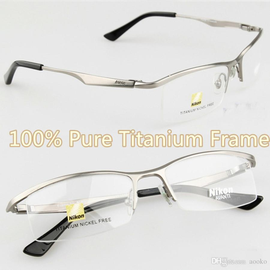 Sports frames for eyeglasses - Nikon 9880 Sports Eyewear Tr90 100 Titanium Myopia Glasses Frame Comfortable Slip Resistant No