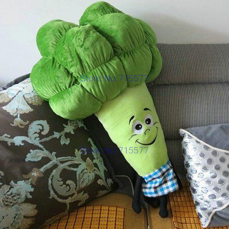 cheap baby gifts 50 70cm plush green broccoli pillow plush toys cloth doll