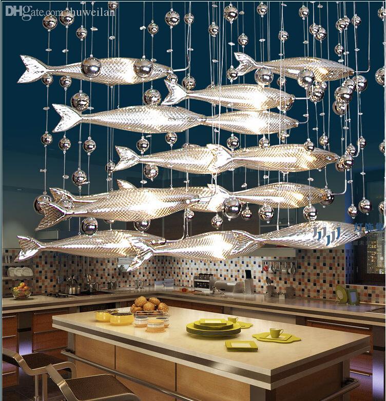 Wholesale novel creative crystal glass flying fish