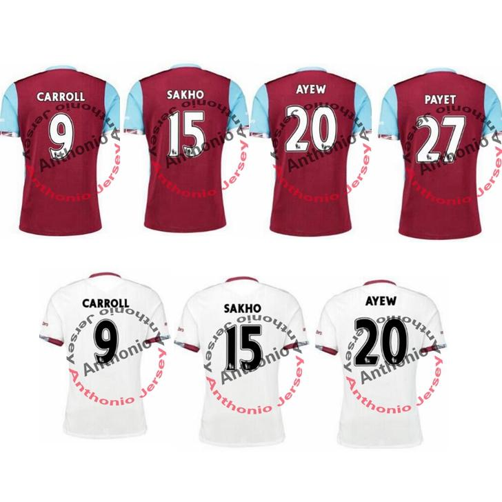 Maillot de football WEST HAM WESTHAM UNITED shirts futbol chemise de football ma