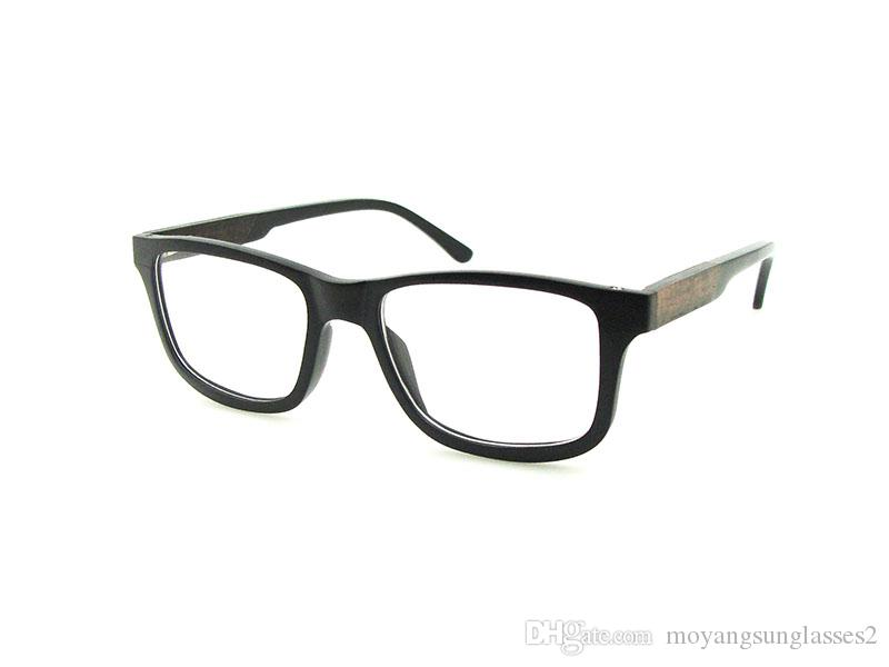wood eyeglass optical frames full rim men women slim frames lamin c032 wood glasses acetate laminated