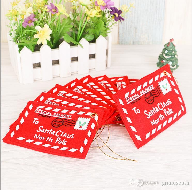 2016 Hot New Christmas Tree Decorations Non-woven Fabrics Red ...