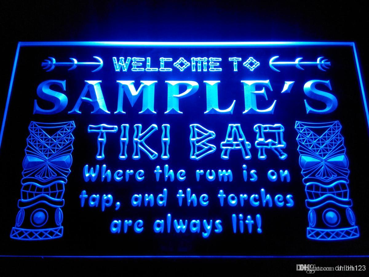 DZ014-b Nom Personnalisée Tiki Bar Beer Neon Light Sign