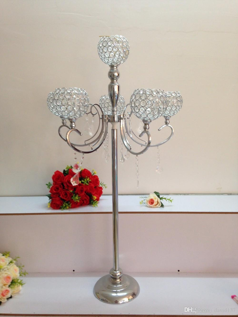 Round tall trumpet glass vases wedding centerpiece party