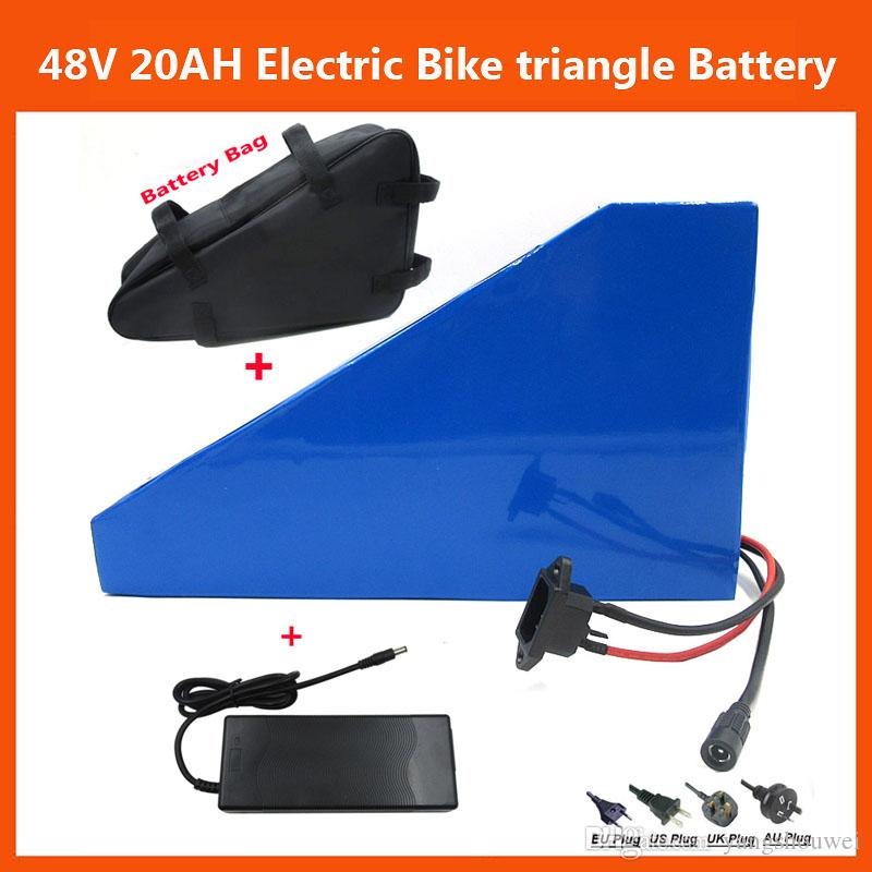 Batterie rechargeable 48V 1000W Triangle Electric Bike lithium ion 48V 20AH avec
