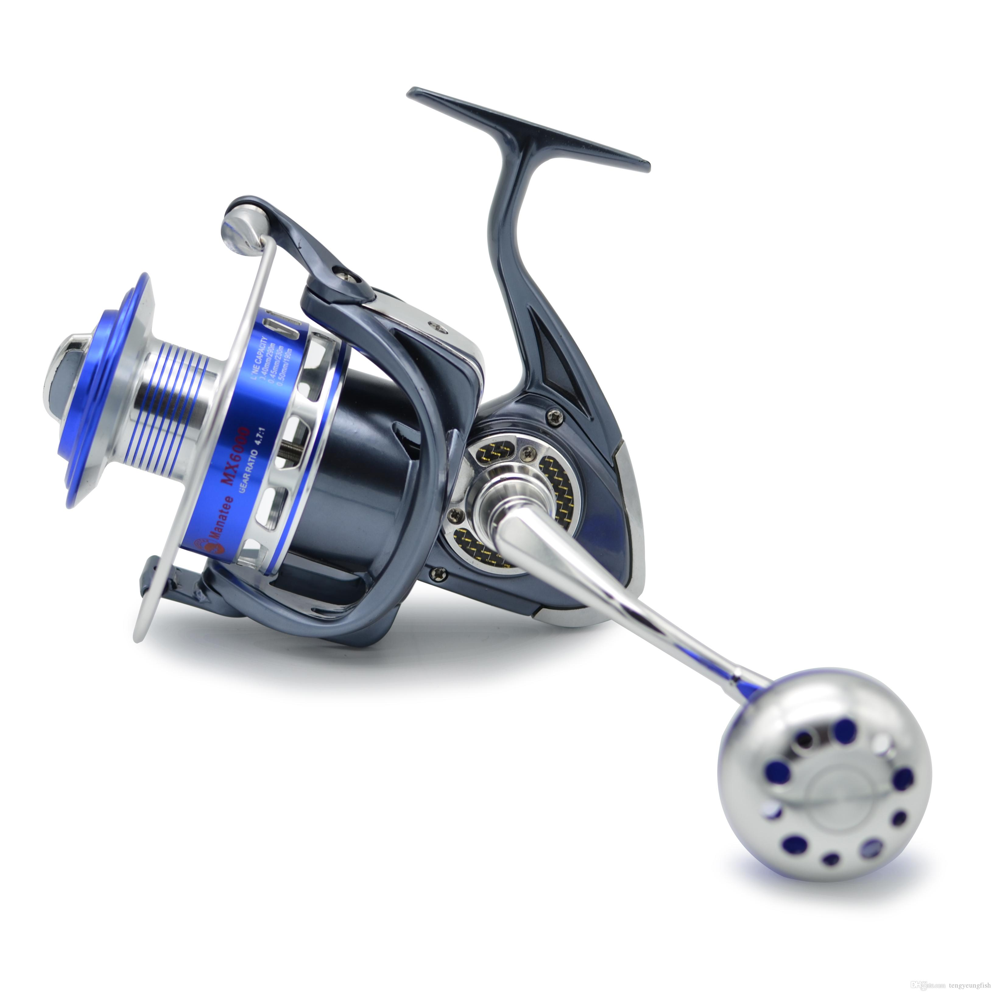 30kg power drag 4.7:1 12+1 ball bearings spinning reels sea, Reel Combo