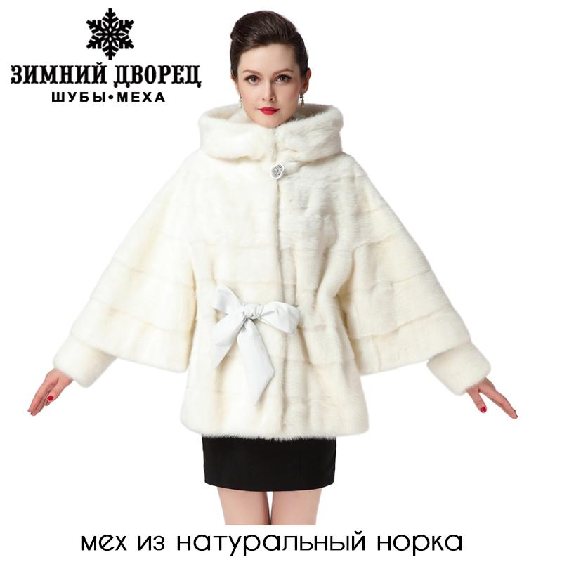 2017 2016 Best Seller White Mink Fur CoatGenuine LeatherBat