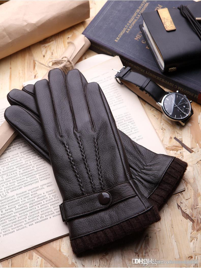 Black leather gloves with coloured fingers - Two Colors Hot Sale Men Winter Gloves With Top Quality And Warm Keeping Gloves Fashion Style Gloves For Choosen Winter Gloves Leather Gloves Womens Gloves