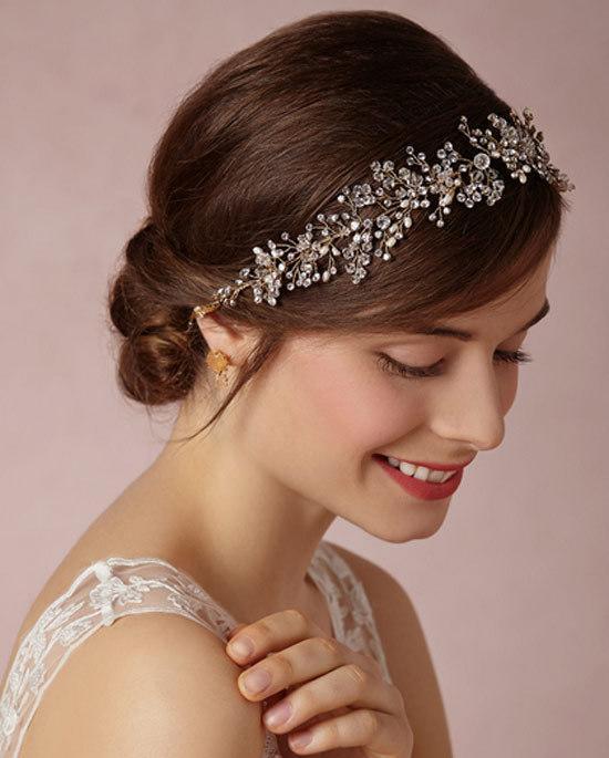 Elegant Wedding Bridal Bridesmaid Gold Silver Crystal Rhinestone Pearl Princess Hair Accessories Ribbon Headband Jewelry Crown Tiara