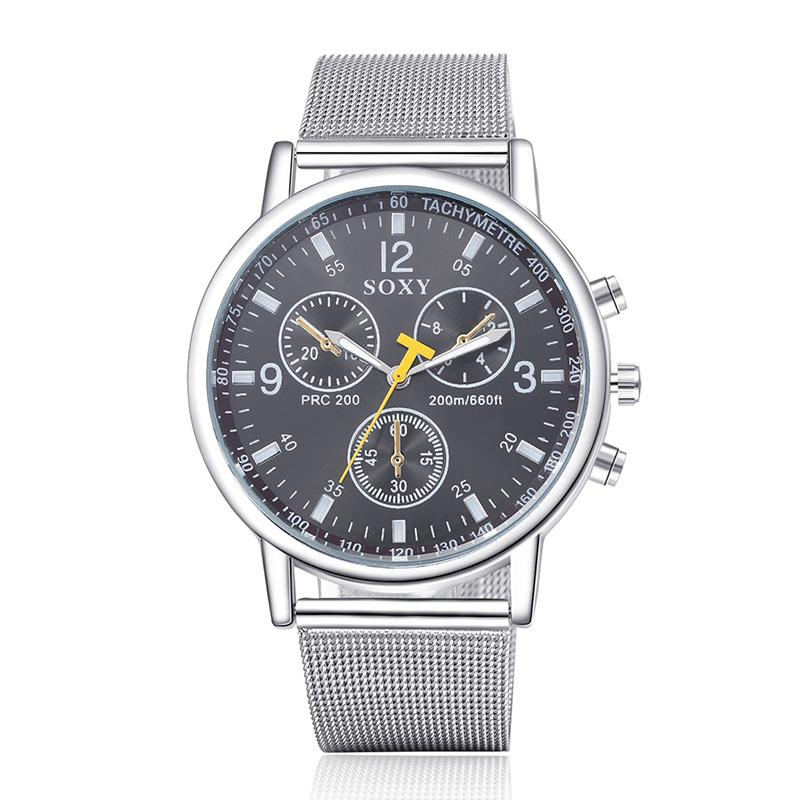 Fashion Leisure Style Brand Soxy Watches Men Business Watch Stainless Steel Strap Quartz Watch