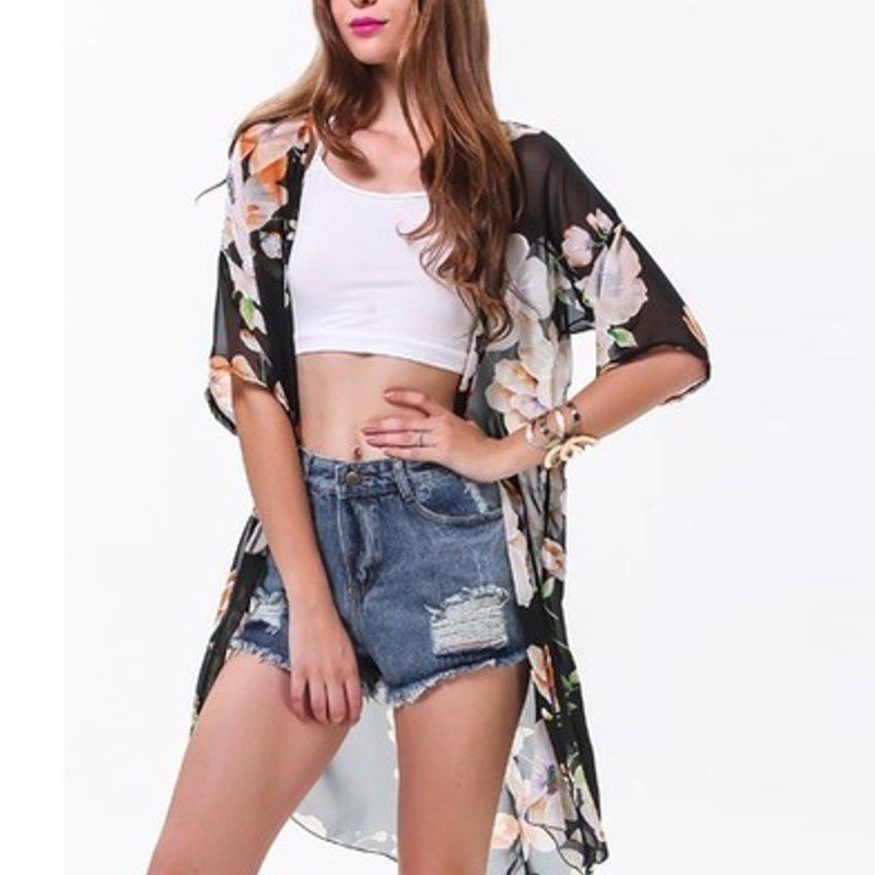 Bohemian Summer Kimono Cardigan 2017 Women Blusas Casual Loose ...