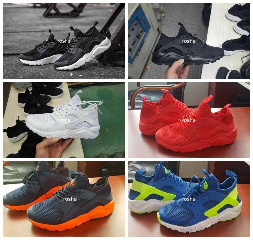 2016 New Design Air Huarache 4 IV Running Shoes For Women & Men, Lightweight Huaraches Sneakers Athletic Sport Outdoor Huarache Shoes 5.5-12