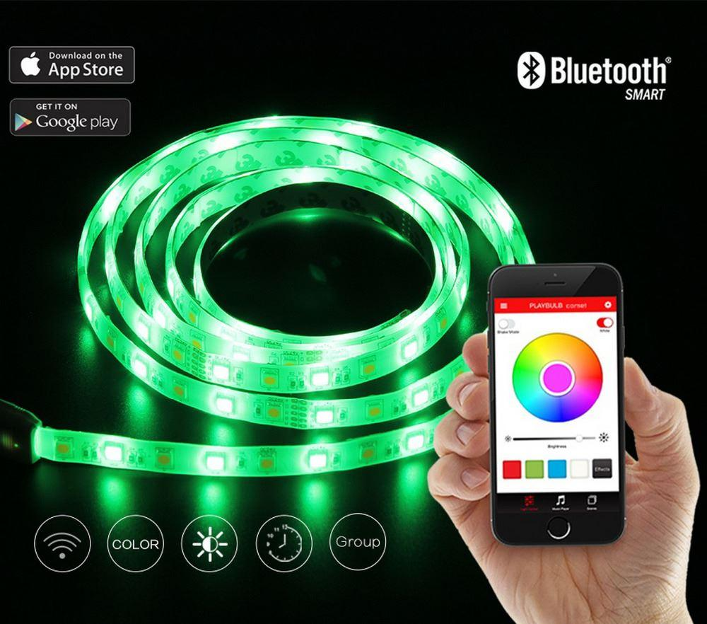 Color Changing Christmas Lights Outdoors: Playbulb Comet 2m 6.6ft Rope Flexible Led Light Strip Lamp Kit Rgb Color  Changing Christmas Lights Indoor Outdoor Decorations Lighting Smart Smart  ...,Lighting
