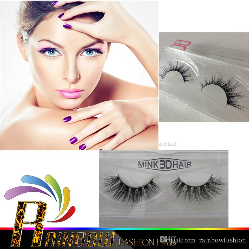 Vente chaude 10pair / Lot Beauté 3D Mink False Eyelashes Extensions faits à la m