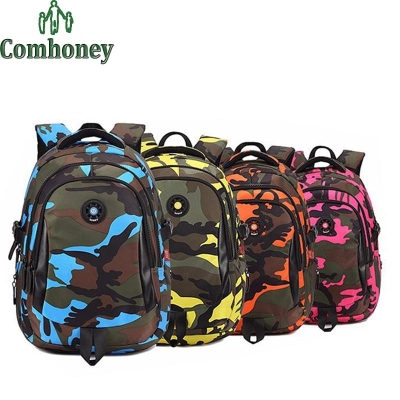 Camouflage Backpack For School Boys Girls Children School Bags ...