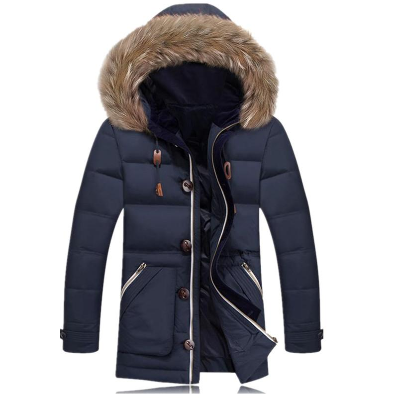 Maxi Winter Jacket Men Coat Goose Down Jacket Plus Size Mens ...