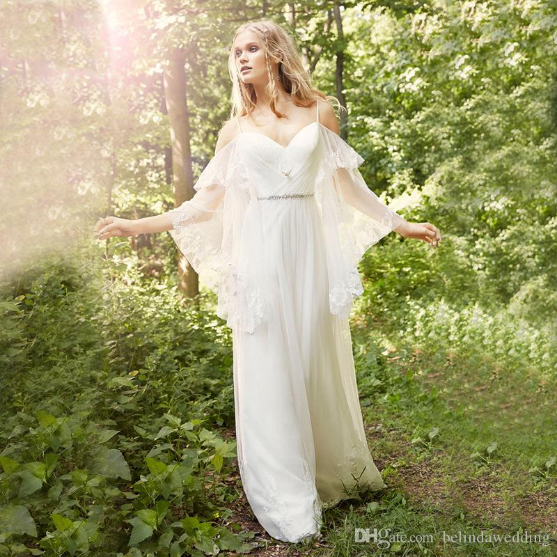 Bohemian spring summer wedding dresses with wraps hot sale for Bohemian wedding dress for sale