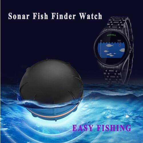 Bluetooth smart fish finder stainless watch wireless sonar for Bluetooth fish finder