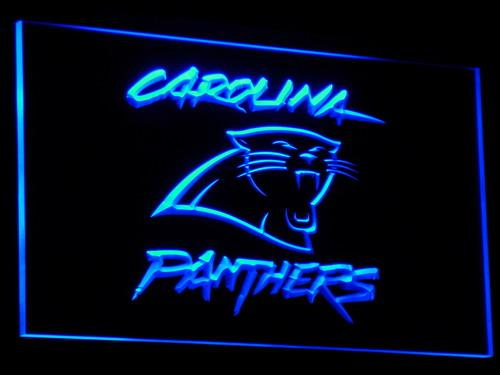 B066 Panthers Beer Football Decor Bar LED Neon Light Sign 7 couleurs envoyés en