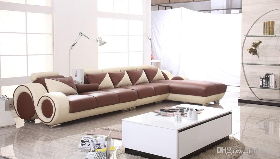 2017 classic design hot sale leather l shaped corner sofa for Sofas mimbre exterior