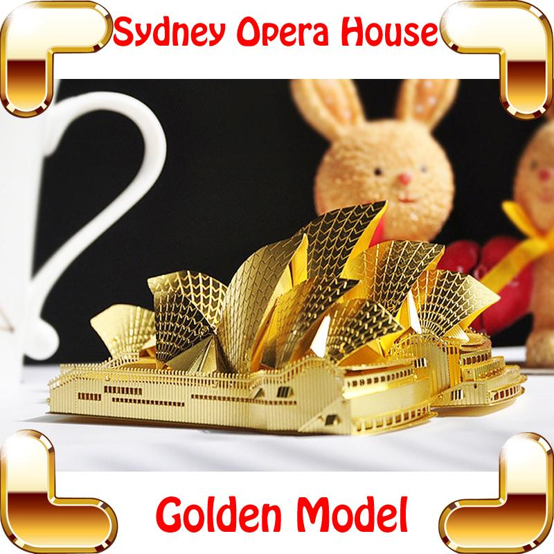 New Year Gift Sydney Opera House 3d Model Music Building Kits Metal Puzzle Diy Nano Collection