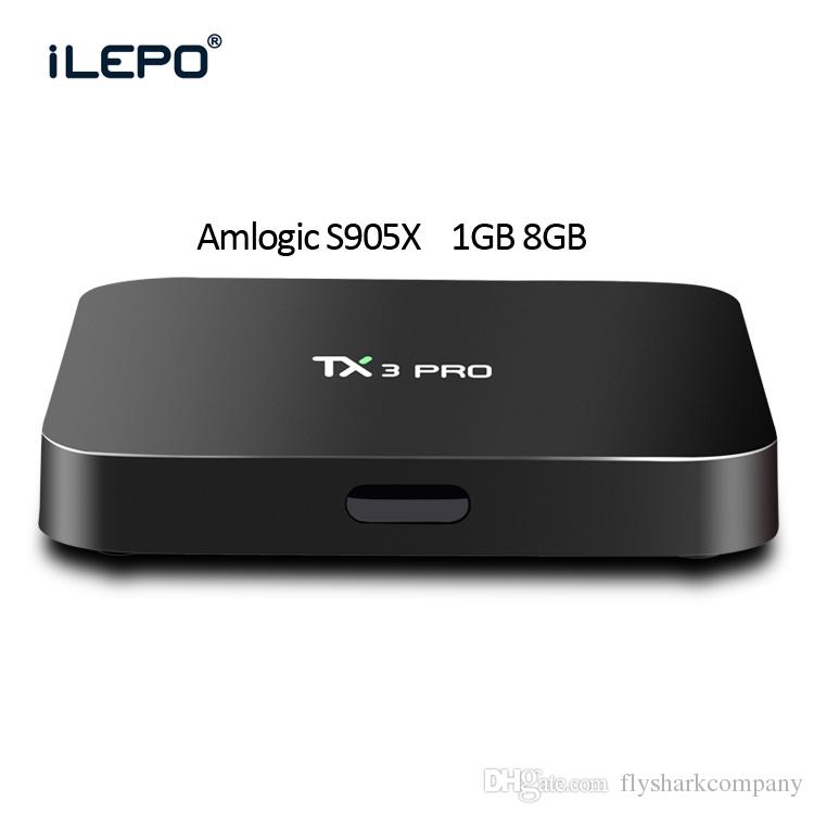 Boîte TV Android 6.0 Amlogic S905X Quad Core 3D 4K HD Support 2.4G Wi-Fi 1 Go / 8 Go Streaming Media Player avec télécommande d'apprentissage