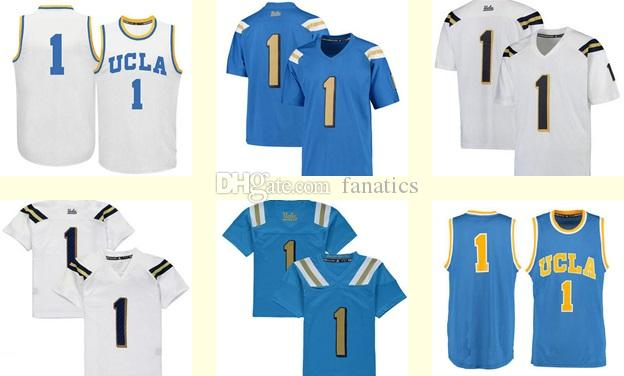 mens women youth kids ucla bruins personalized customized ncaa jersey white blue any name any number
