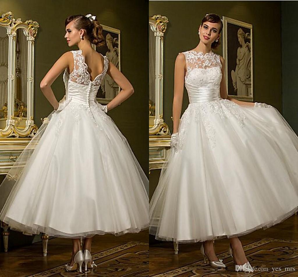 2016 New Cheap Vintage 50 S Style Retro Wedding Dresses