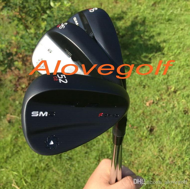 2016 New golf wedges SM6 wedges steel grey/silver/jet black 50 52 54 56 58 60 degree 3pcs/lot OEM quality golf clubs