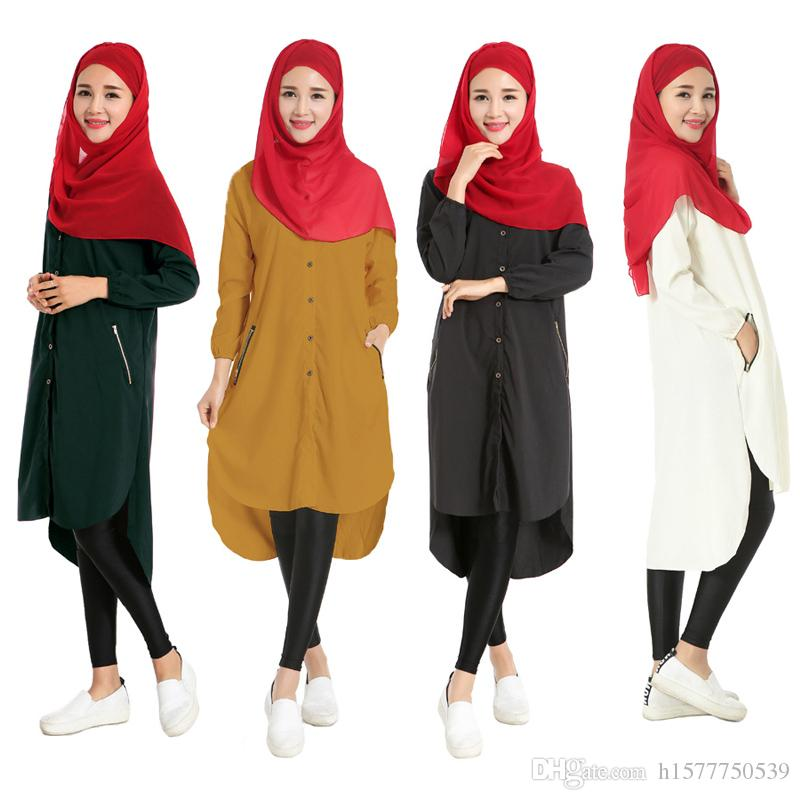 Turkish Women Clothing Muslim Women Long Shirt Islamic Tops ...