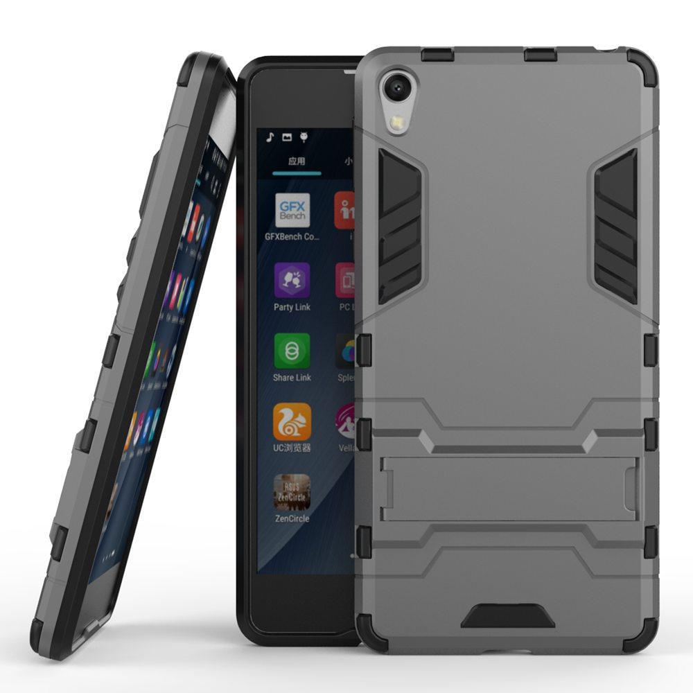 Hybrid KickStand Anti Shock Defender Armor Case TPU+PC cover SONY Xperia E5 5.0INCHES 50P CS/LOT
