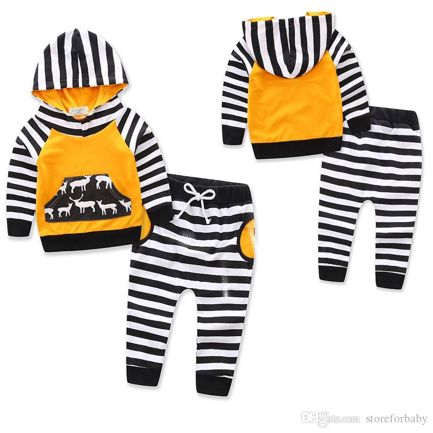 baby boy clothes sets sweatshirts kids boy suits clothings striped child boy tops cotton hoodied wears baby boy clothes sets boy kids