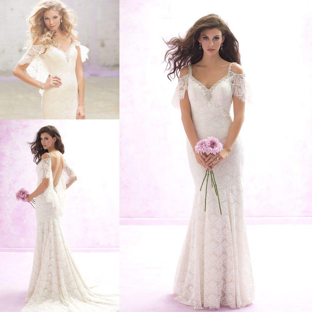 2017 Gorgeous Bohemian Wedding Dresses Mermaid Style Lace