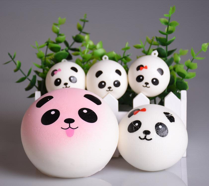 Squishy Jumbo Panda 10 Cm : 2017 4cm 7cm 10cm Jumbo Panda Squishy Charms Kawaii Buns Bread Cell Phone Key/Bag Strap Pendant ...