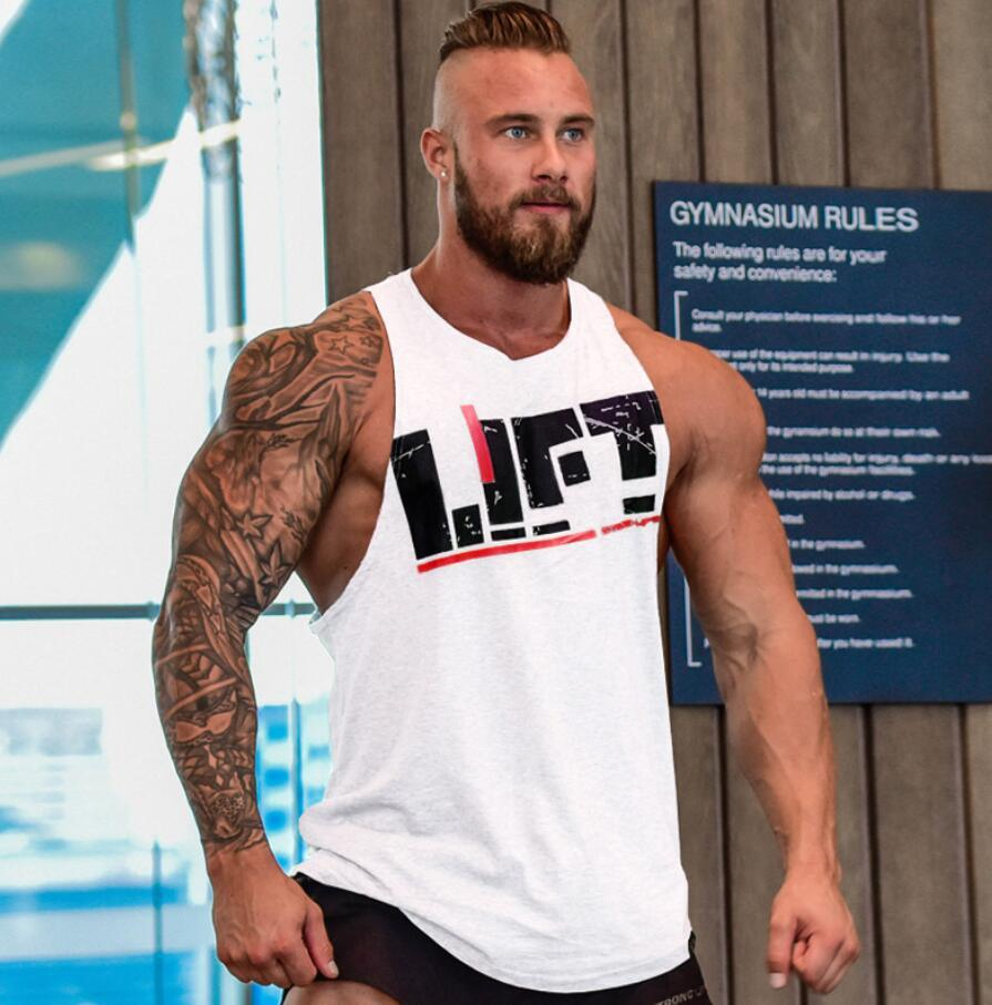 New arrival funny print men t shirt gym muscle sport tops for Cheap workout shirts mens