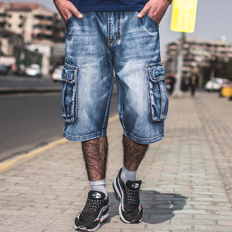 2017 Wholesale Men Fashion Baggy Cargo Jean Shorts Mens Mult ...