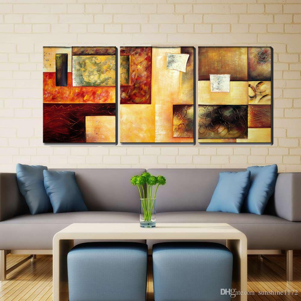 Wall art painting modern - Canvas Wall Art Decor Hand Paint Large Framed Oil Painting Modern Abstract Art Painting 40x60cmx Abstract Art Painting 3 Panels Oil Painting Abstract Oil