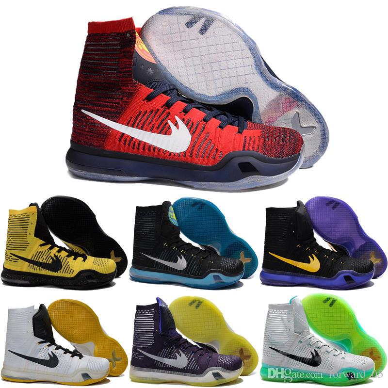 2017 Wholesale 2016 Basketball Shoes Men Weaving Kobe 10 Sneakers ...