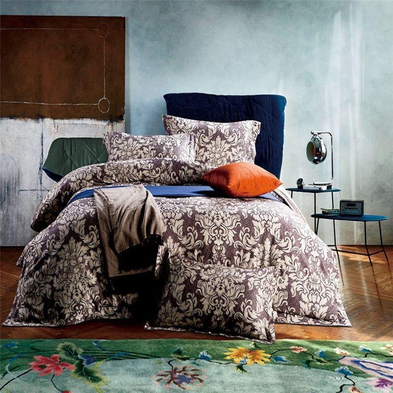 Luxury 80s pima cotton ny fashion bedding set king queen for Pima cotton comforter
