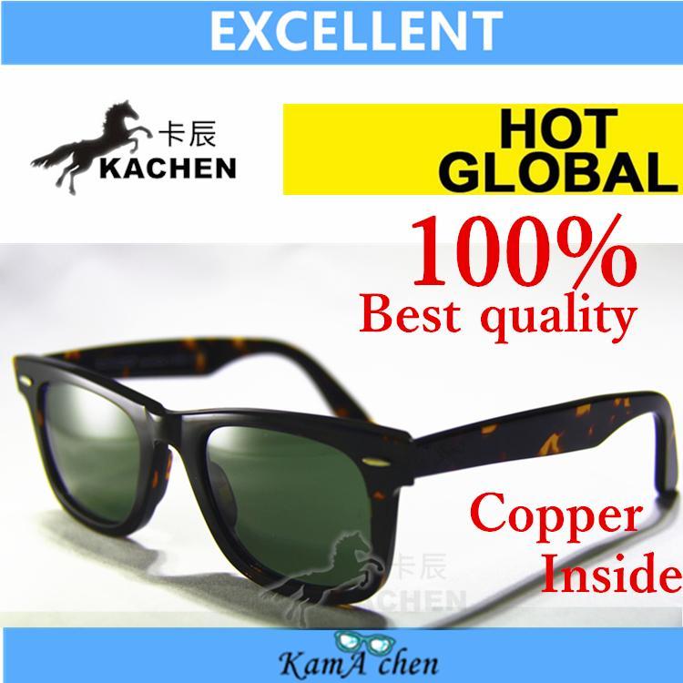 KaChen 901 50mm 54mm Plank Gradient Brown Blue Green Bottle black gray Lens UV400 protection amber sunglasses glasses men women