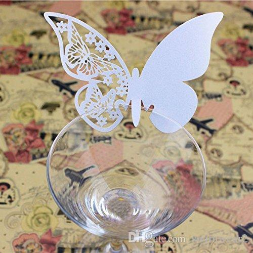 Discount Diy Butterfly Escort Wine Glass Paper Card Wedding 3d ...